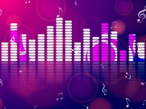 Music pink and blue equalizer with notes. Vector illustration. vector illustration