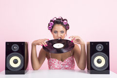 Music in pink Royalty Free Stock Images