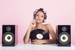 Music in pink Stock Image