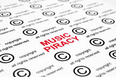 Music piracy Stock Photo