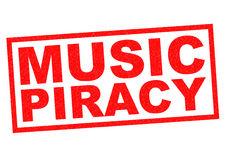 MUSIC PIRACY Royalty Free Stock Images