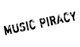Music Piracy rubber stamp Stock Image