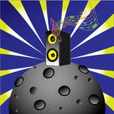 Music planet 1 Royalty Free Stock Image