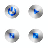 Music play buttons. This is a digital drawing of 4 buttons for playing movies and music Royalty Free Stock Images