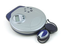 Music Player. CD player and ear phones Royalty Free Stock Photos