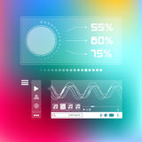Music player box social infographic template Stock Photography