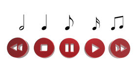 Music player button Royalty Free Stock Image