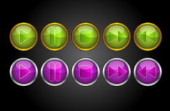 Music Player Buttons, illustration Stock Photography