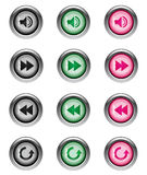 Music Buttons part 2/2 Royalty Free Stock Photos
