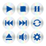 Music player buttons Royalty Free Stock Image