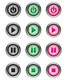 Music Player Buttons part 1/2 Royalty Free Stock Image