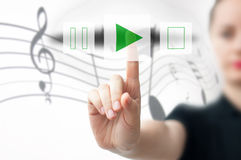 Music player concept Royalty Free Stock Images