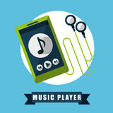 Music player Stock Image
