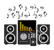Music player Stock Image