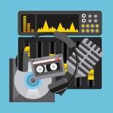 Music player. Design, vector illustration eps10 graphic stock illustration