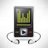 Music player and headphones Stock Image