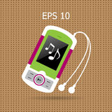 Music player with headphones. Stock Images