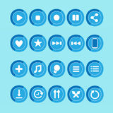 20 Music Player Icon Stock Photos