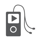 Music player icon. Flat vector icon - illustration of music player icon isolated on white Stock Photos