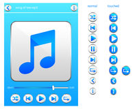 Music player icon Royalty Free Stock Photos
