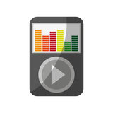 Music player icon Royalty Free Stock Image