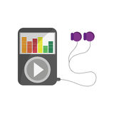 Music player icon Royalty Free Stock Images