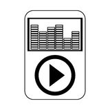 Music player icon Stock Image