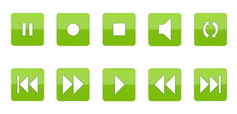 Music Player Icon Set [03] Royalty Free Stock Photos