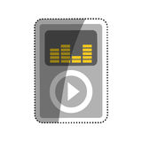 Music player mp4. Icon  illustration graphic design Stock Photography