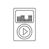 Music player mp4. Icon  illustration graphic design Stock Image