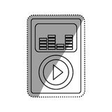 Music player mp4. Icon  illustration graphic design Stock Photos