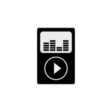 Music player mp4. Icon  illustration graphic design Royalty Free Stock Image