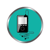 Music player mp3 icon Royalty Free Stock Images