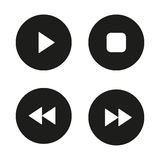 Music player navigation icons set Royalty Free Stock Photos