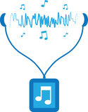 Music Player Soundwaves Stock Images