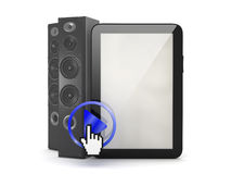 Music player in tablet computer Stock Photos