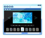 Music player, Vector Royalty Free Stock Photography