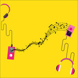 Music player vector background Stock Photos