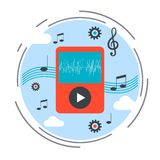 Music player vector illustration Stock Images