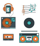 Music players and components Royalty Free Stock Photo