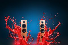 High power loud speakers Stock Photos