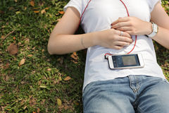 Music Playlist Attractive Charming Fashion Song Concept Stock Photo