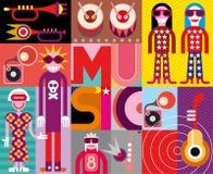 Music - Pop Art Vector Illustration Royalty Free Stock Photography