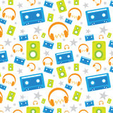 Music pop seamless pattern Stock Image