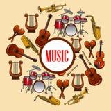 music poster 风和串乐器 皇族释放例证