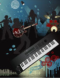 Music poster. Vector illustration in AI-EPS8 format.The file can be scaled to any size Stock Images