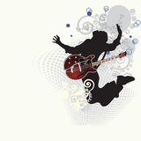 Music poster. Vector illustration in AI-EPS8 format.The file can be scaled to any size Royalty Free Stock Photography