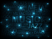 Music_poster. Music abstract background. vector illustration Stock Photos