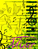 Music poster Royalty Free Stock Photography
