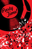 Music poster. 1960s stylization, vertical Royalty Free Stock Photos